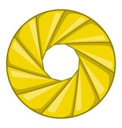 Diaphragm icon cartoon style vector