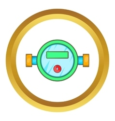 Water meter icon vector