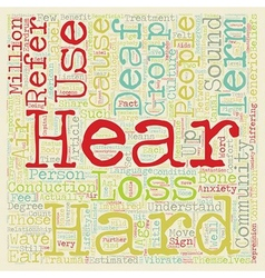 Deaf awareness listen up text background wordcloud vector