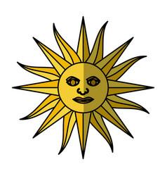 sun uruguayan emblem flag vector image