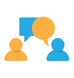 Two persons chatting client consultant vector