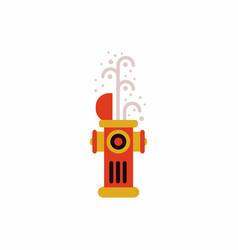 Street fire hydrant open vector