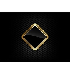 Hexagon background with gold frame vector
