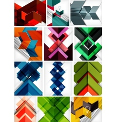 Mega set of paper geometric backgrounds vector