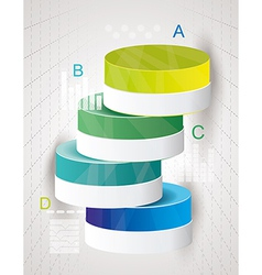 Abstract Minimal Ifographic Design on cylinder vector image