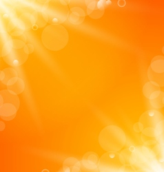 Abstract orange bright background with sun light vector