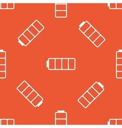 Orange empty battery pattern vector