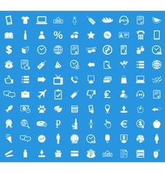 100 shop icon set vector