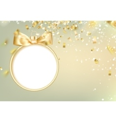 Golden hristmas ball vector