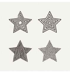 Star textures set  pattern vector