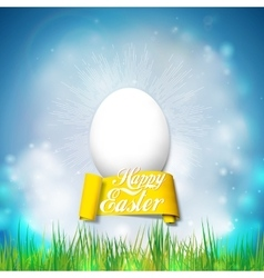 Happy easter card with egg bright spring vector
