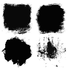 Set of 4 artistic dry brush painted textures vector