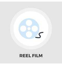 Reel of film icon flat vector