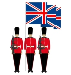 Honor guard in england vector
