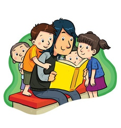 Book reading vector