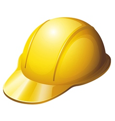 A yellow safety helmet vector image vector image