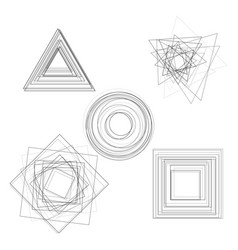 abstract geometry shapes vector image