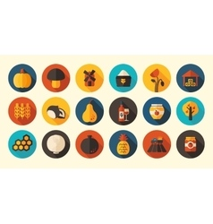 Autumn Harvest Thanksgiving flat icon vector image