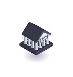 bank icon symbol vector image vector image
