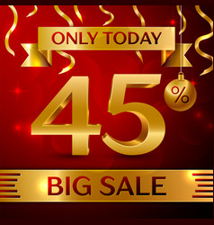 Big sale forty five percent for discount vector