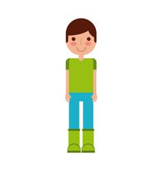 Boy cartoon icon vector