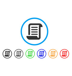 Conclusion roll document rounded icon vector