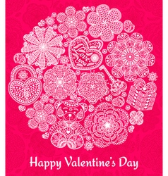 Design of card for valentines day vector