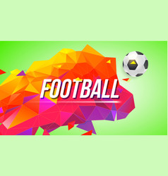 Football poster for tournaments championships vector