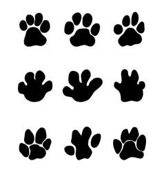 Footprints of hippopotamus vector