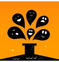 halloween monsters vector image vector image