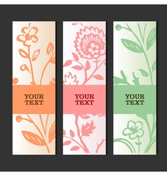Invitation or greeting card with floral background vector image vector image