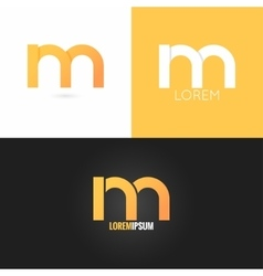 letter M logo design icon set background vector image
