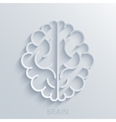 Modern brain light background vector