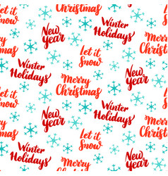 New year lettering seamless pattern vector