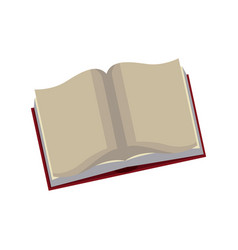 Open book learn knowledge science icon vector