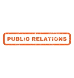 Public relations rubber stamp vector