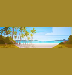 sea shore beach beautiful seaside landscape summer vector image