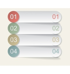 Set of four bookmarks vector image