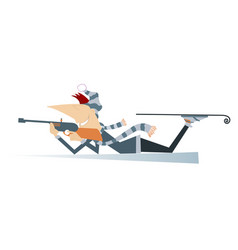 shooting biathlon competitor isolated vector image