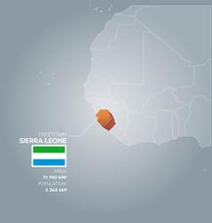 sierra leone information map vector image
