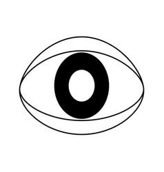 Single eye icon image vector