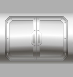 Sliding metal gate vector