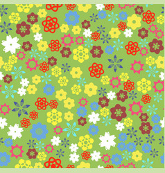 Spring colored flower seamless pattern vector