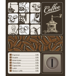 Topic of coffee vector