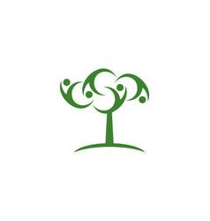 tree people logo vector image