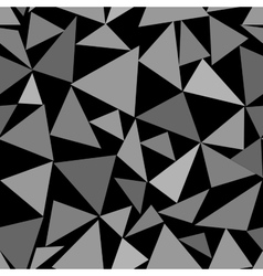 Triangle chaotic seamless pattern vector image