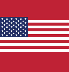 United states of american flag for independence vector
