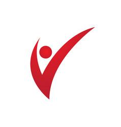 V letter logo template vector