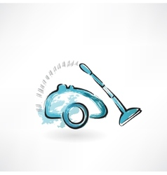 Vacuum cleaner grunge icon vector