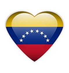 Venezuela flag button vector image vector image